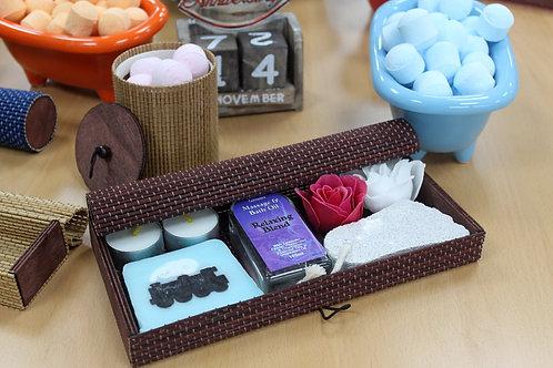 Tray Box Bamboo Chocolate 24.4cm