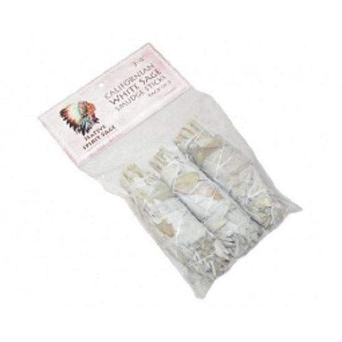 "California White Sage Wand 3-4"" Pack of 3"