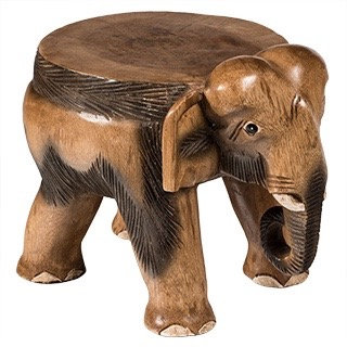 Hand carved Wooden Elephant Lamp Table/Stool