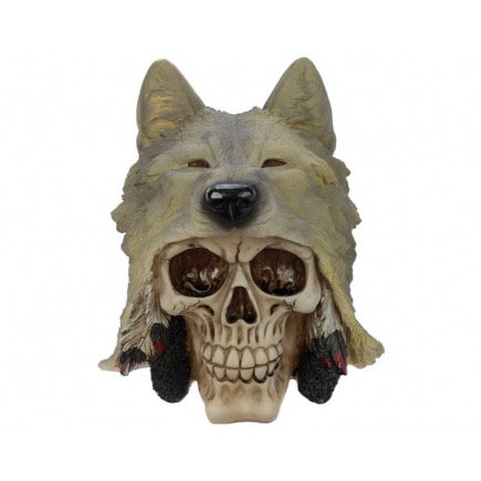 Skull with Wolf Head