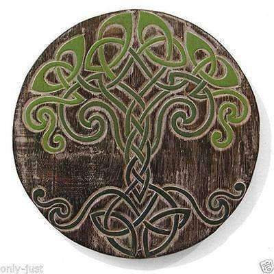 """Hand-Carved, Balinese Rustic """"Celtic Tree Knot """"  Wall Plaque/Hanging:"""