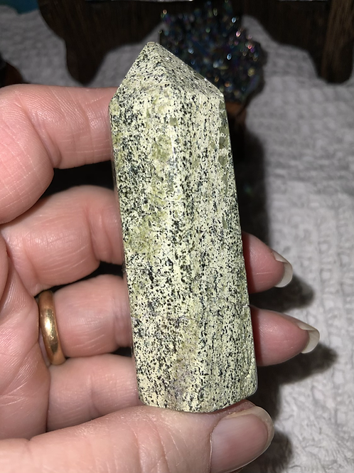 Chrysotile in Serpentine Polished Tower