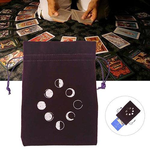 Moon Phase Velvet Tarot Bag