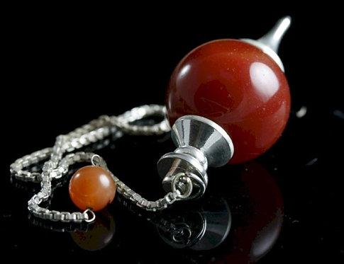 Handmade Gemstone Sphere Pendulums