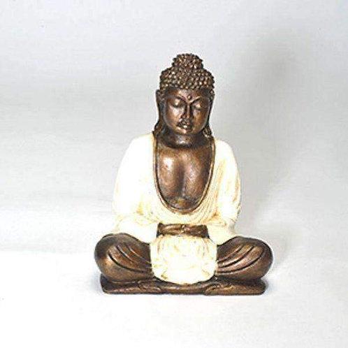 Hand Crafted Meditating Thai Buddha (Resin) Approx 20cm