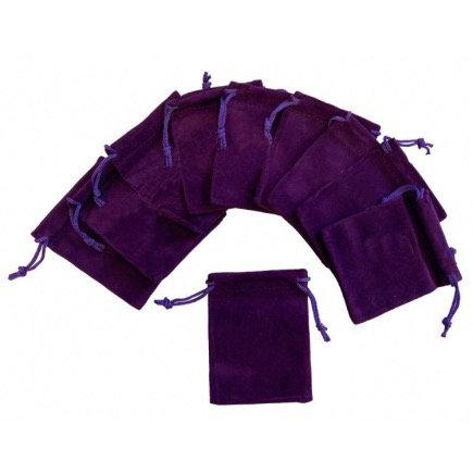 Purple Velvet Pouch X 3 Pieces