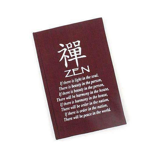 Handmade Fabric Bound Zen Affirmation Notebook: Perfect For Your Thoughts