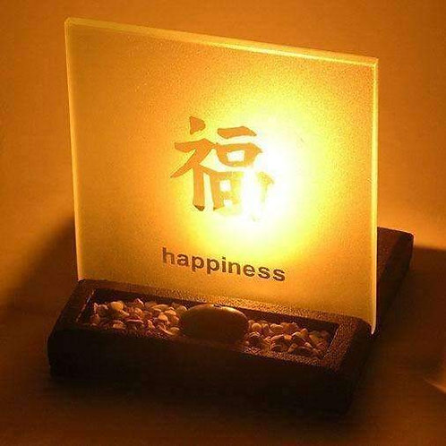 Happiness T-Light Holder With Enlightened Display