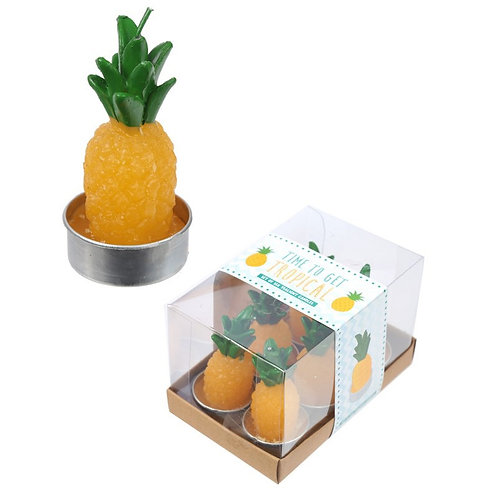 6 Tea Light Candle Pineapple