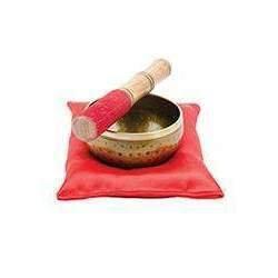 Tibetan Hammered Singing Bowl Set in Gift Box. 10cm X 10cm