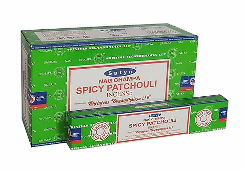 Satya Spicy Patchouli Incense Sticks