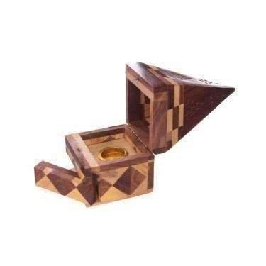 Sheesham Wooden Pyramid Incense Cone Burner