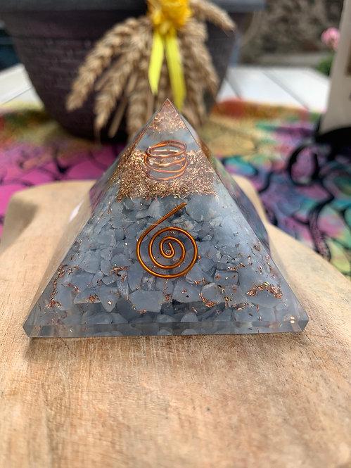Angelite Orgone Pyramid
