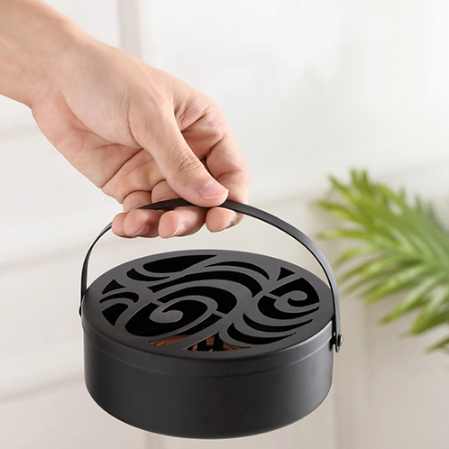 Incense Metal Coil Burner: Suitable for indoor or outdoor