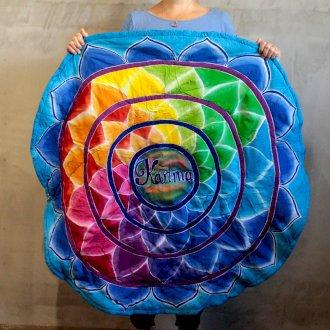 Stunning and Beautiful Round Karma Mandala Meditation Mat