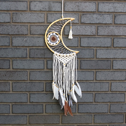 Protection Dream Catcher - Macrame Moon