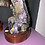 Thumbnail: Amethyst Druze with Calcite on a Wooden Stand