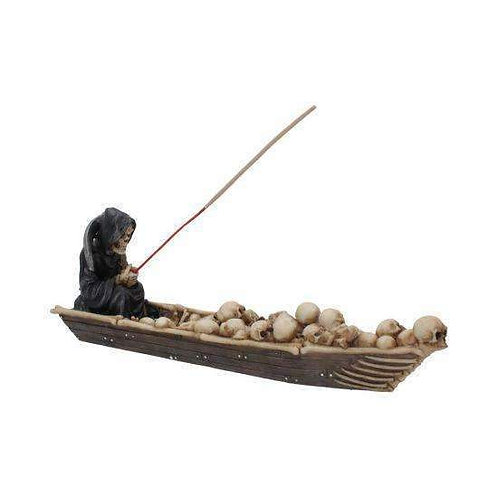 The Ferryman Grim Reaper River Styx Skeleton Incense Holder