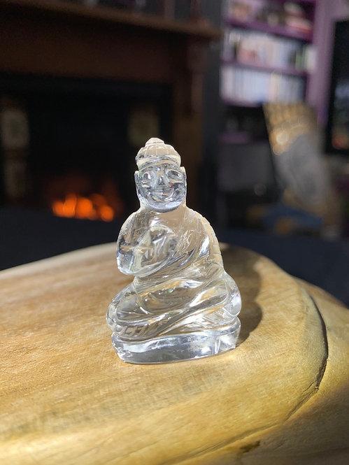 Clear Quartz Carved Buddha