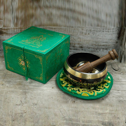 Green Tara Singing Bowl Set 10cm