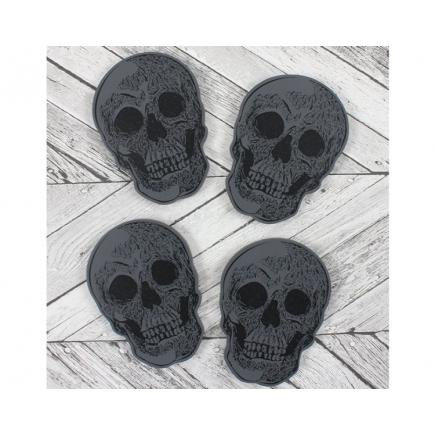 St of Four Skull Coasters