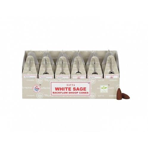 Satya White Sage Backflow Dhoop Cones