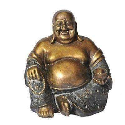 Sitting Lucky Laughing Buddha Statue: Choice Of Colours (Resin)
