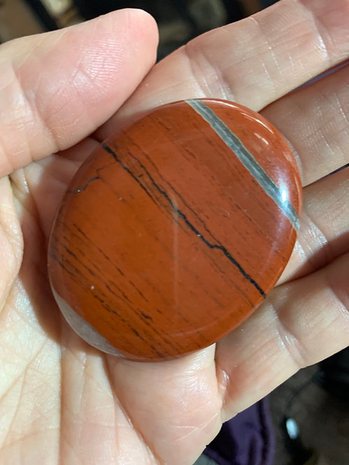Red jasper polished Pebble