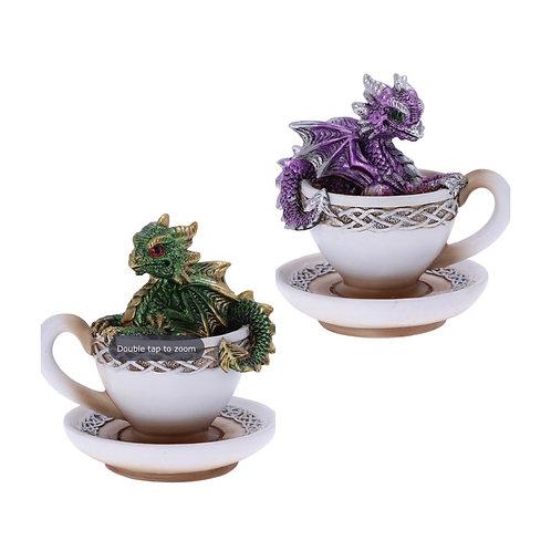 Dracuccino Dragon Teacup Figurine 11.3cm