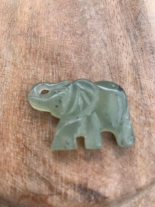 New Jade Carved Elephant