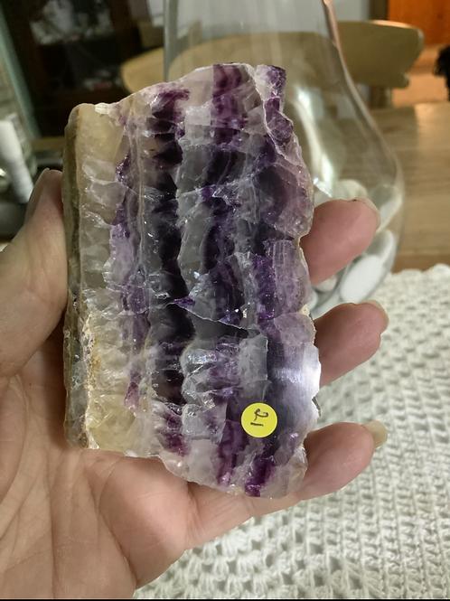 Purple Banded Fluorite Slice
