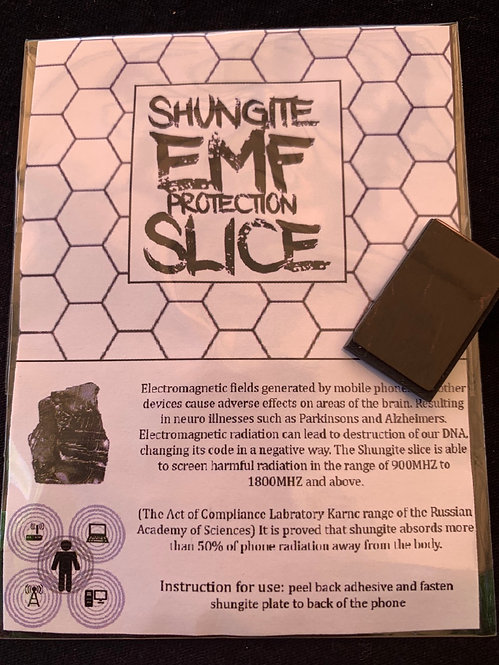Shungite EMF Protection Slice