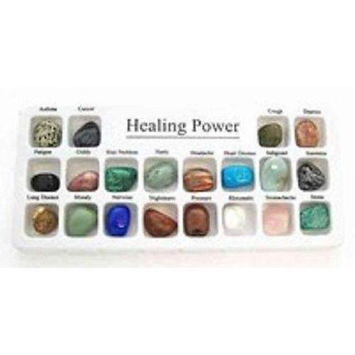 Set of 20 Healing Power Crystals in a Presentation Box;