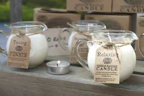 Essential Oil, Soybean Massage Candles