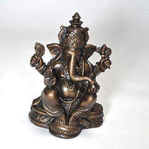 Hand Painted, Fair Trade Resin Ganesh : 18cm