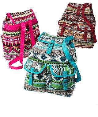 Handloom Cotton Jacquard Backpack