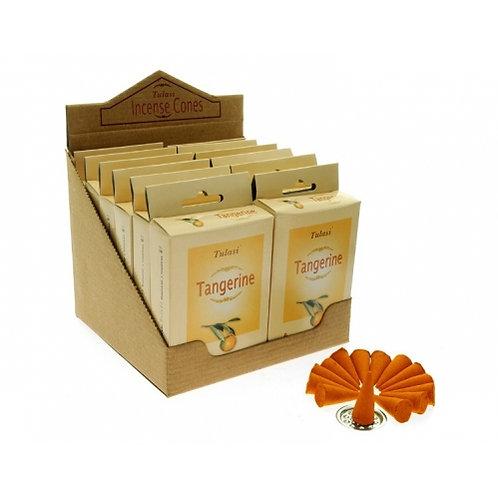 Tulasi Tangerine Incense Cones