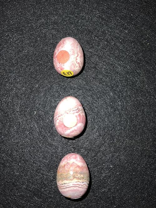 Rhodochrosite Carved Egg