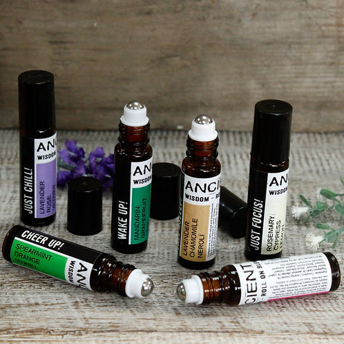 Roll-Ons Essential Oil Blends: Uplifting fragrances