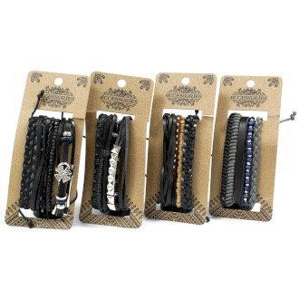 Men's Bracelet Set - Black and Macho