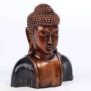 Thai Buddha Head 19cm (Resin) Choice Of Colours