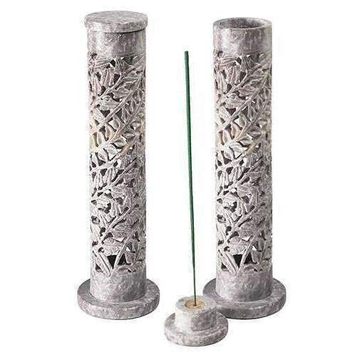 Carved Soapstone Incense Tower