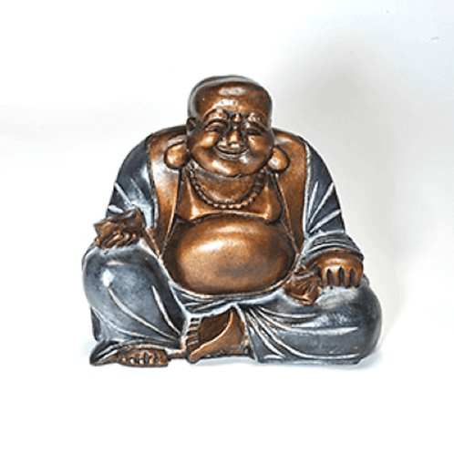 Large Hand Painted Sitting Happy Chinese Buddha Statue