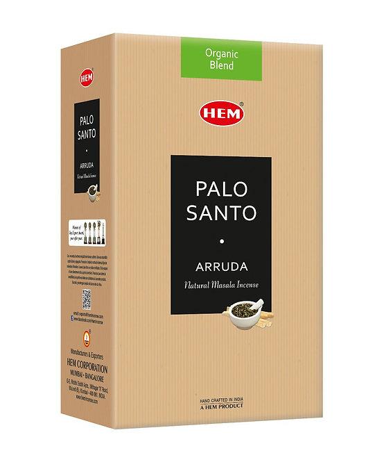 HEM Organic Blend Palo Santo & Arruda Incense Sticks