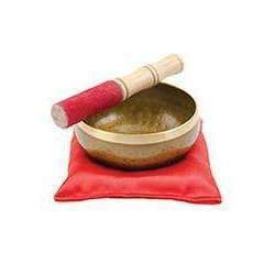 Tibetan Hammered Singing Bowl Set in Gift Box. 12.5cm X 12.5cm