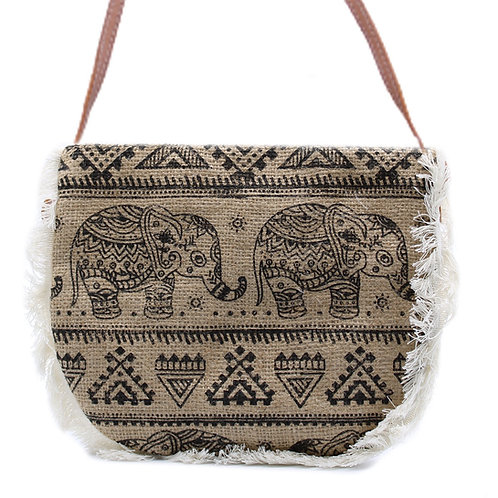 Jute Fringe Bag Various Designs