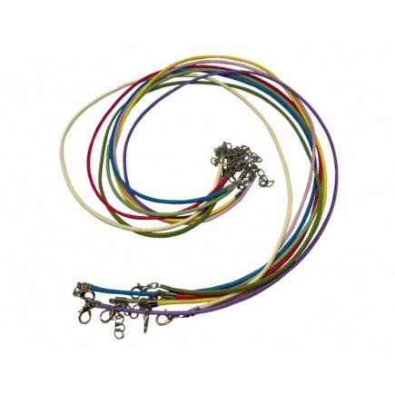 6 X Mixed Coloured Waxed Cord