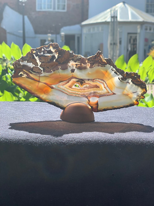Agate Geode Slice with stand