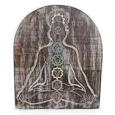Beautiful Hand Made Meditation Chakra Plaque
