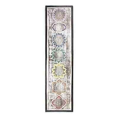 Beautiful Hand Made SMALL Meditation Chakra Plaque 56cm